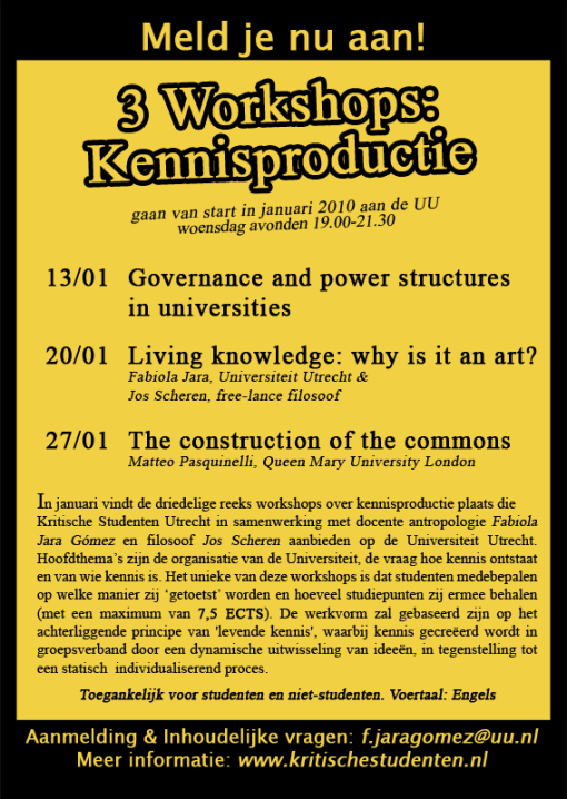 Kennisproductie Flyer