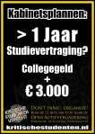 > 1 Jaar Studievertraging? Collegegeld + € 3.000