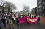 Demonstratie tegen de bezuinigingen op de uithof van 10 december