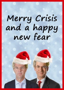Kerstkaart Merry Crisis and a happy new Fear